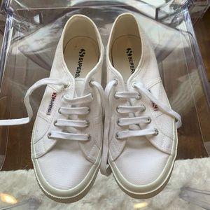 White superga canvas sneakers